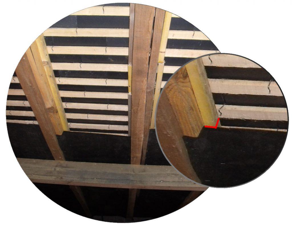 Détail création lame d'air sous-toiture