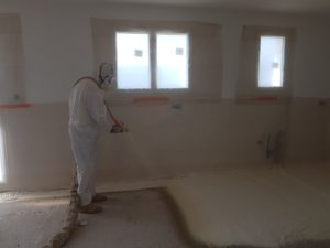 isolation du sol par mousse polyur thane cf isolation. Black Bedroom Furniture Sets. Home Design Ideas